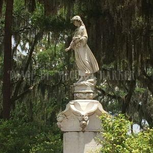 Statuary in Bonaventure Cemetery. Savannah, GA.